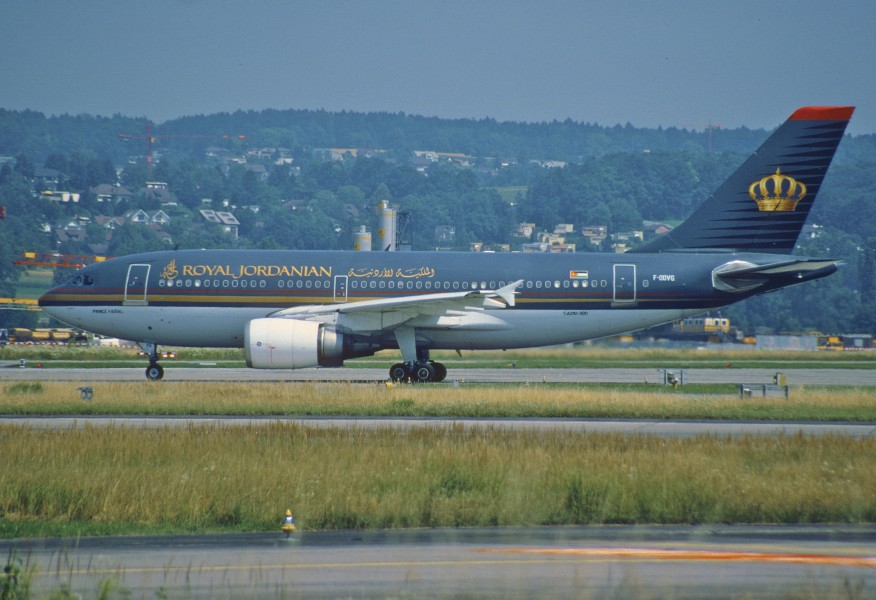 142ah - Royal Jordanian Airlines Airbus A310-304; F-ODVG@ZRH;31.07.2001 (8210842056)