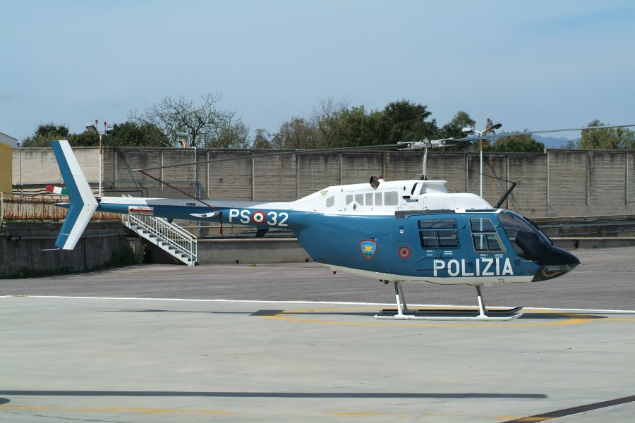 Abbasanta is a police barracks on Sardinia and MM80732 PS-32 an Agusta-Bell AB.206C-1 Jetranger of 7º Reparto Volo is based there (3147386940)