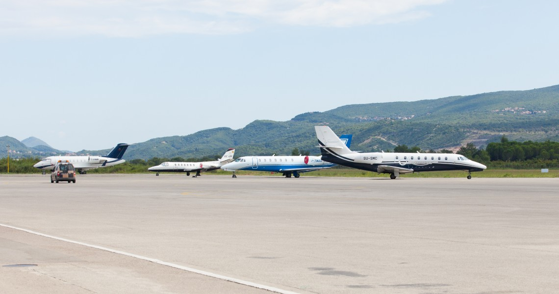 airplanes photographed in Tivat airport, Montenegro in August 2014, picture 4