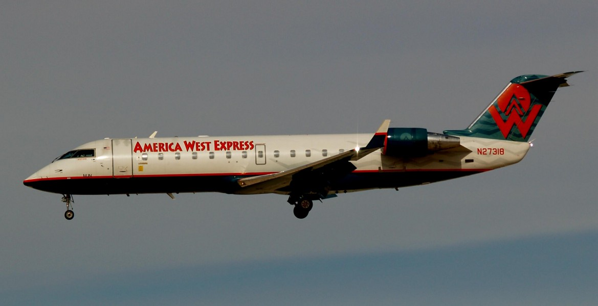 America West Express Bombardier CL-600-2B19 N27318