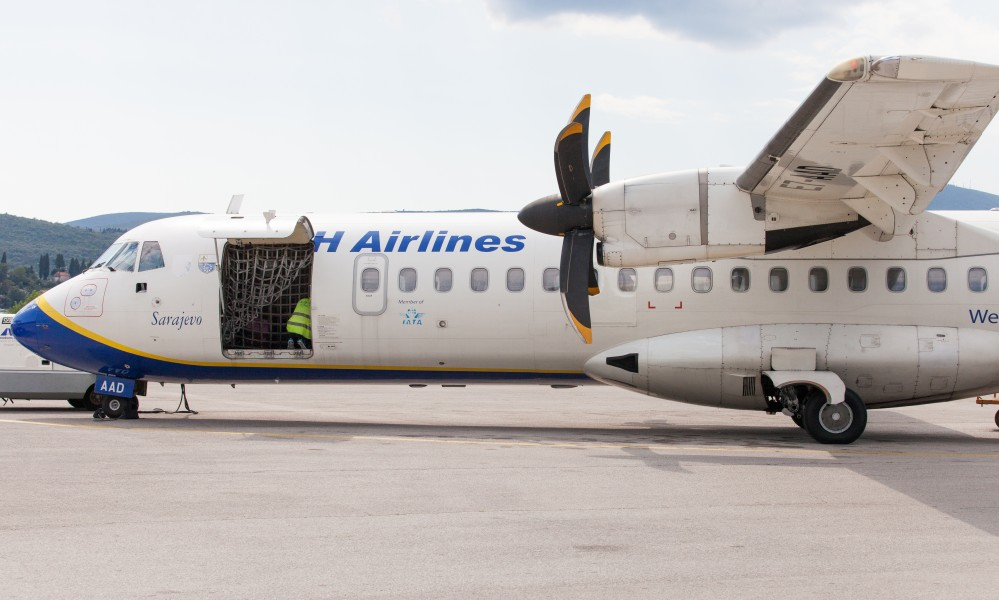 a BH Airlines airplane photographed in Tivat, Montenegro in August 2014, picture 3