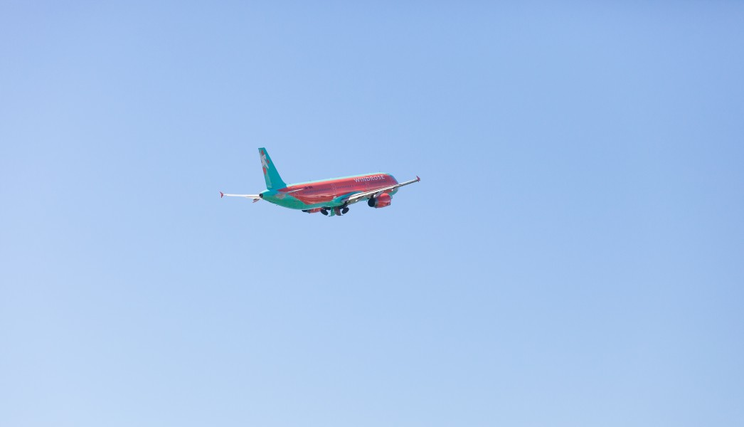 a Windrose airplane departing Tivat, Montenegro in August 2014, picture 8