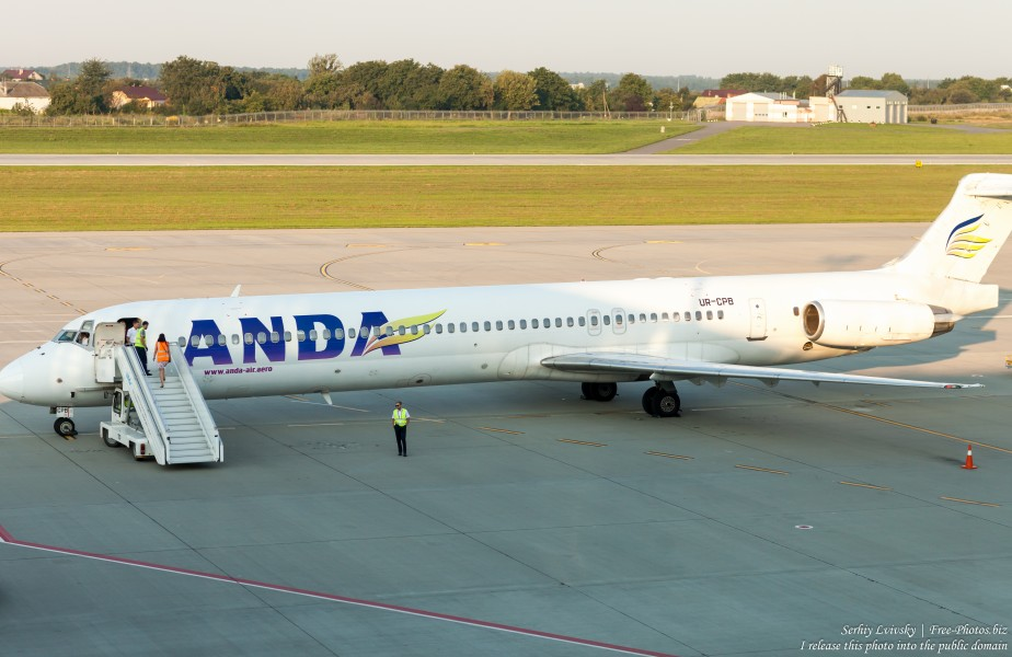 an Anda Air aircraft in Lviv airport, Ukraine, photographed by Serhiy Lvivsky in August 2018, picture 2
