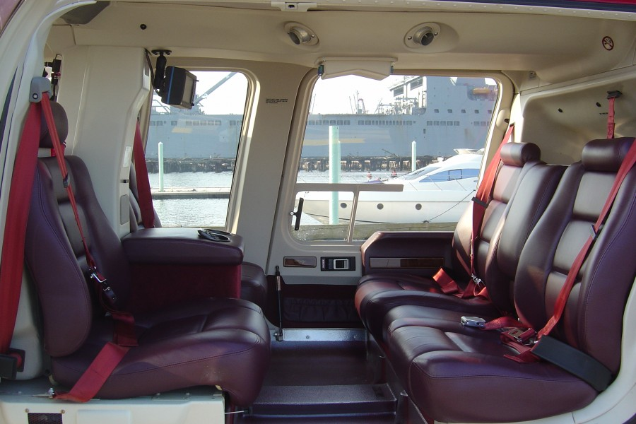 Bell 407 Helicopter Interior Baltimore Helicopter Services N407F