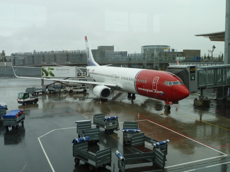 Boeing 737 from Norwegian Air Shuttle at Gardermoen Airport 2010