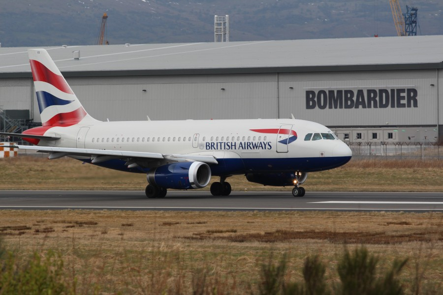 British Airways (G-DBCE), Belfast City Airport, April 2013 (01)