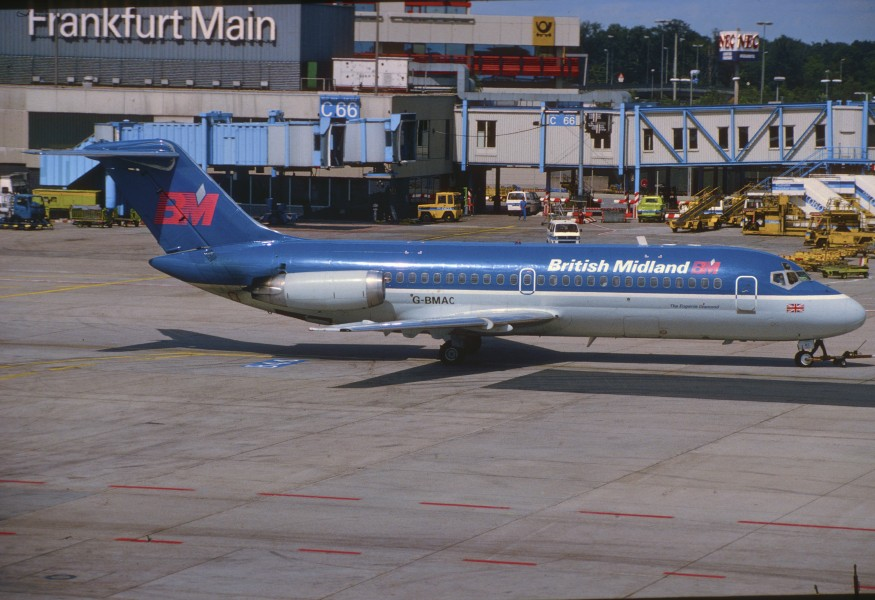 British Midland Airways DC-9-15; G-BMAC@FRA, August 1992 BNY (5127204076)