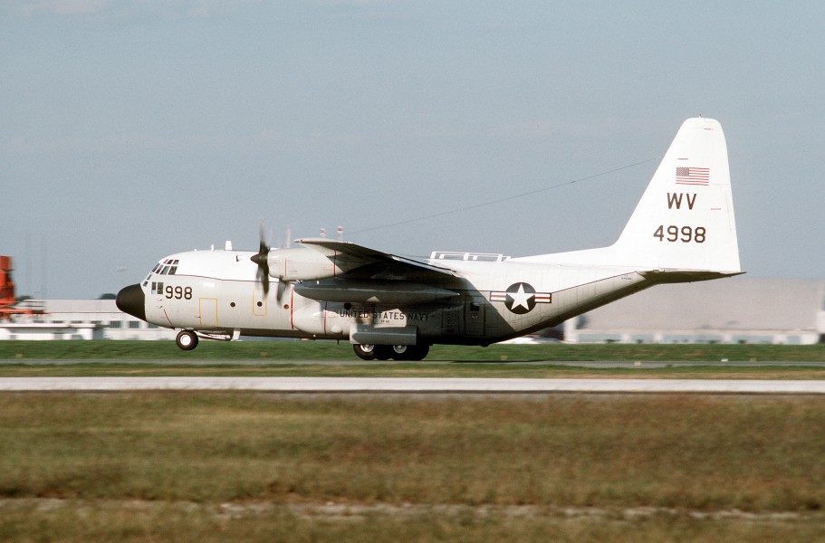 C-130T Hercules of VR-48 takes off from NAF Washington 1993