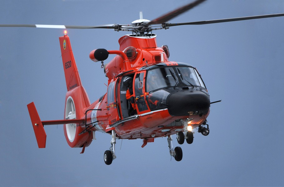 Coast Guard MH-65 Dolphin helicopter retouched