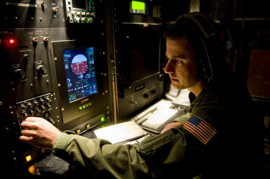 Defense.gov News Photo 100917-F-8155K-035 - U.S. Air Force Capt. Douglas Gautrau a WC-130J Hercules aircraft flight meteorologist assigned to the 53rd Weather Reconnaissance Squadron part