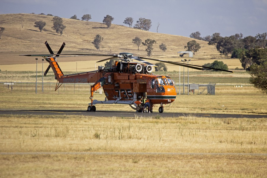 Erickson Air-Crane 'Camille' at Wagga Wagga Airport