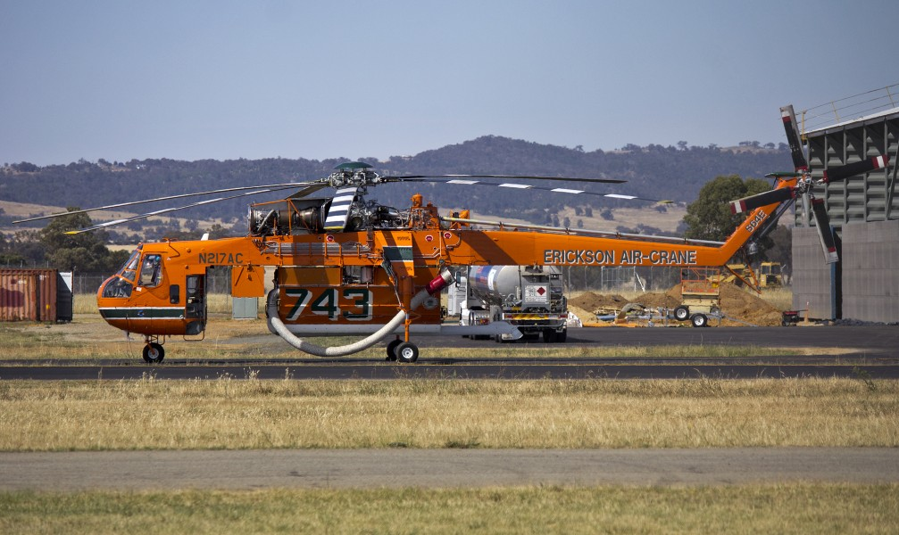 Erickson Air-Crane 'Malcolm' at Wagga Wagga Airport