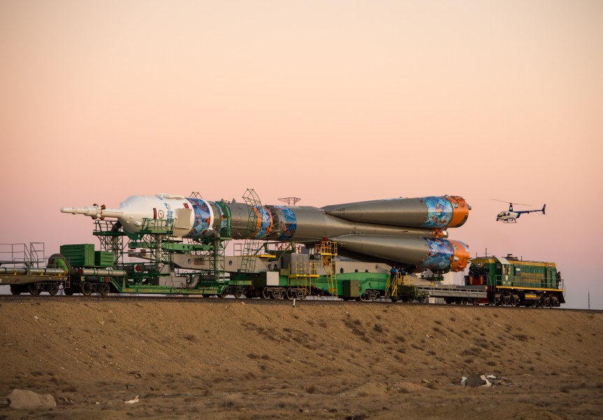 Expedition 38 Soyuz Rollout (201311050010HQ)