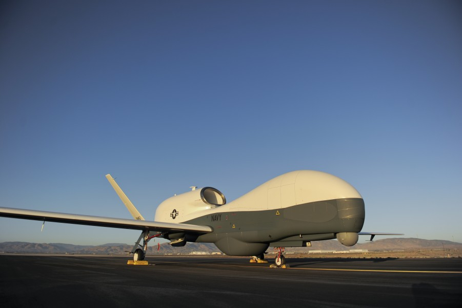 Flickr - Official U.S. Navy Imagery - In this undated file photo, an RQ-4 Global Hawk unmanned aerial vehicle sits on a flight line.