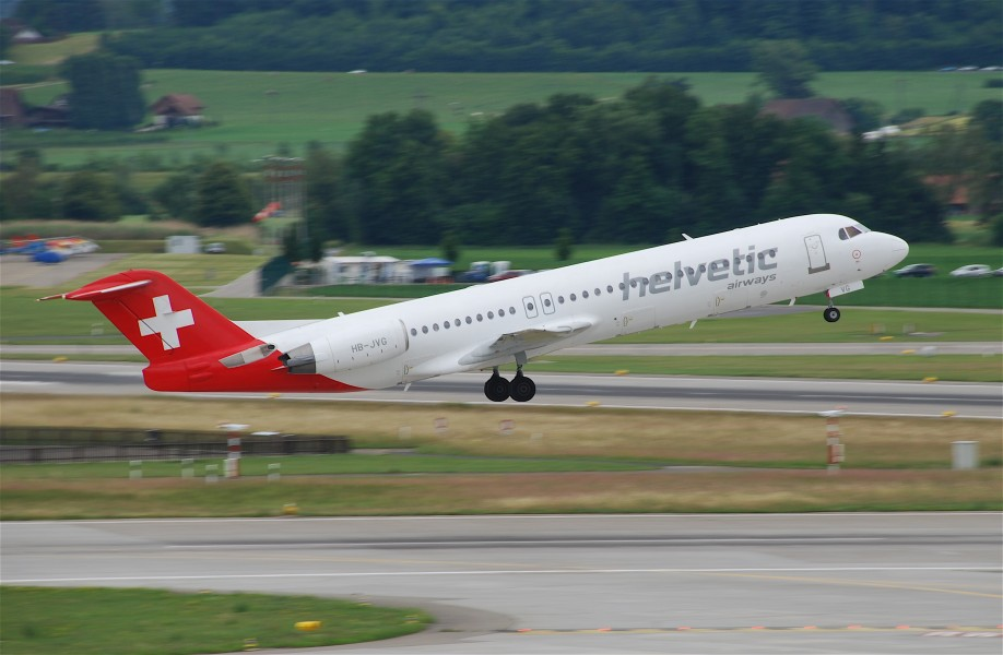 Helvetic Airways Fokker 100; HB-JVG@ZRH;27.05.2011 599ac (5832394753)