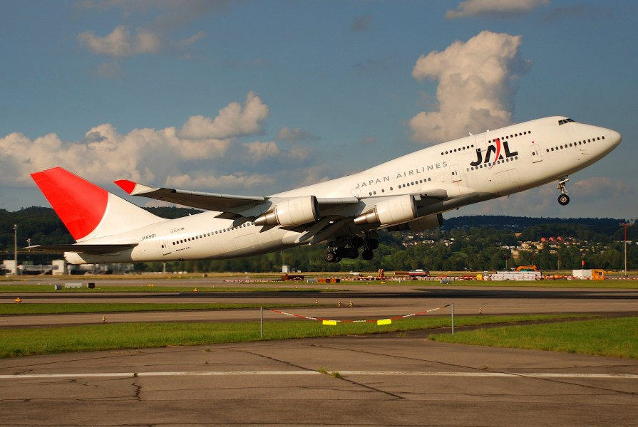JAL Japan Airlines Boeing 747-400, JA8901@ZRH,30.07.2007-484bl - Flickr - Aero Icarus