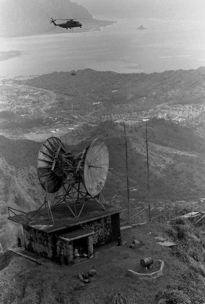 Kaneohe Omega Transmitter with CH-53 1987