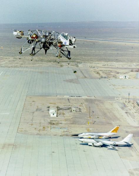 Lunar Landing Research Vehicle in Flight - GPN-2000-001999