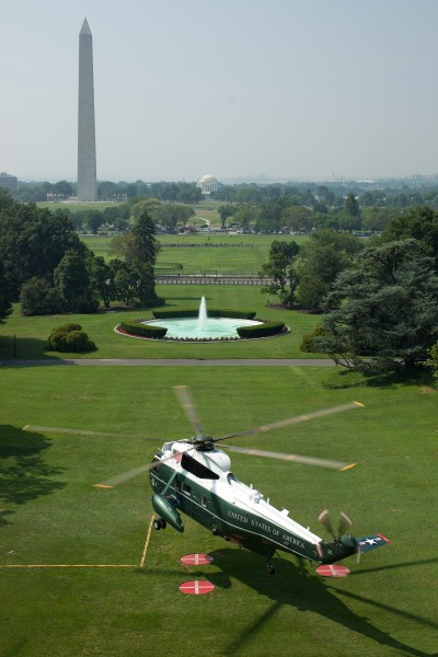 Marine One South Lawn take off
