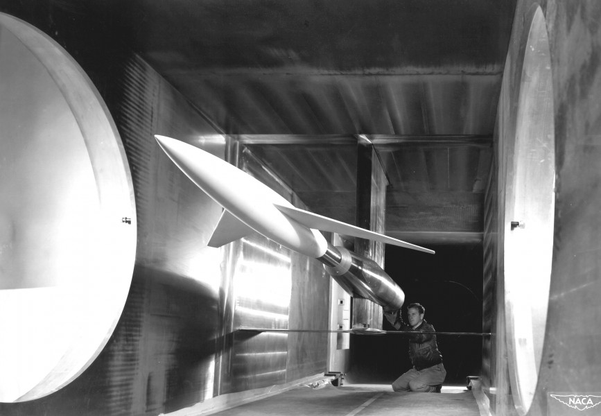 Model in Supersonic Wind Tunnel GPN-2000-001631