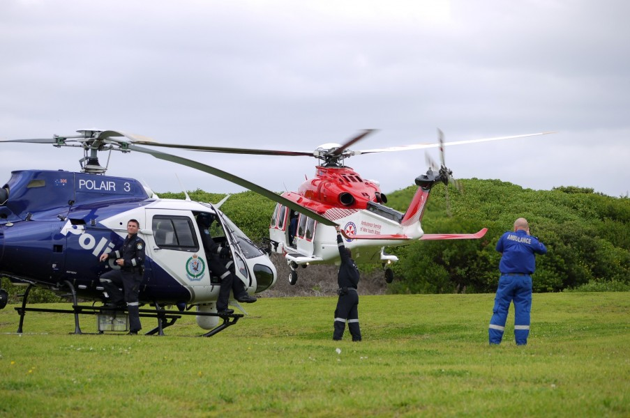 POLAIR 3 and ASNSW AW139 Rescue helicopter - Flickr - Highway Patrol Images