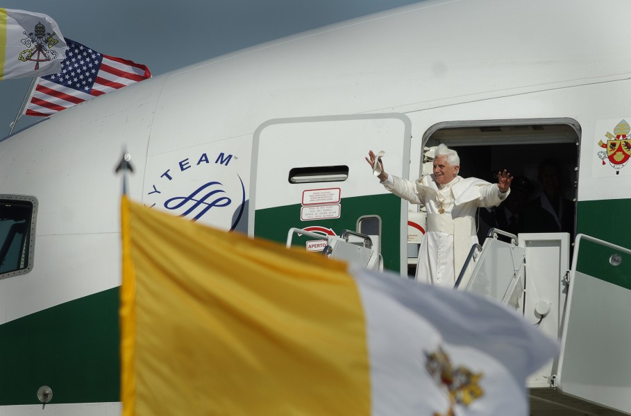Pope Benedict XVI Shepherd One at Andrews Air Force Base