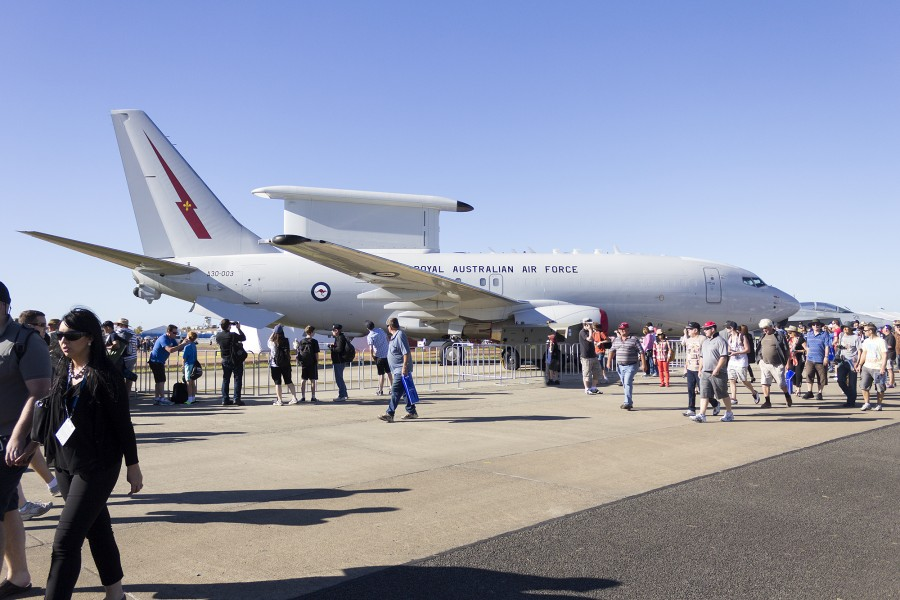 RAAF (A30-003) Boeing E-7A Wedgetail on display at the 2013 Australian International Airshow