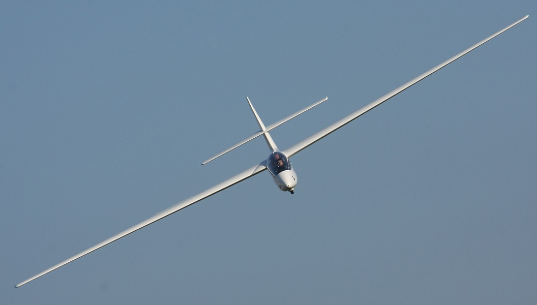 SZD-50-3 Puchacz Glider in a turn