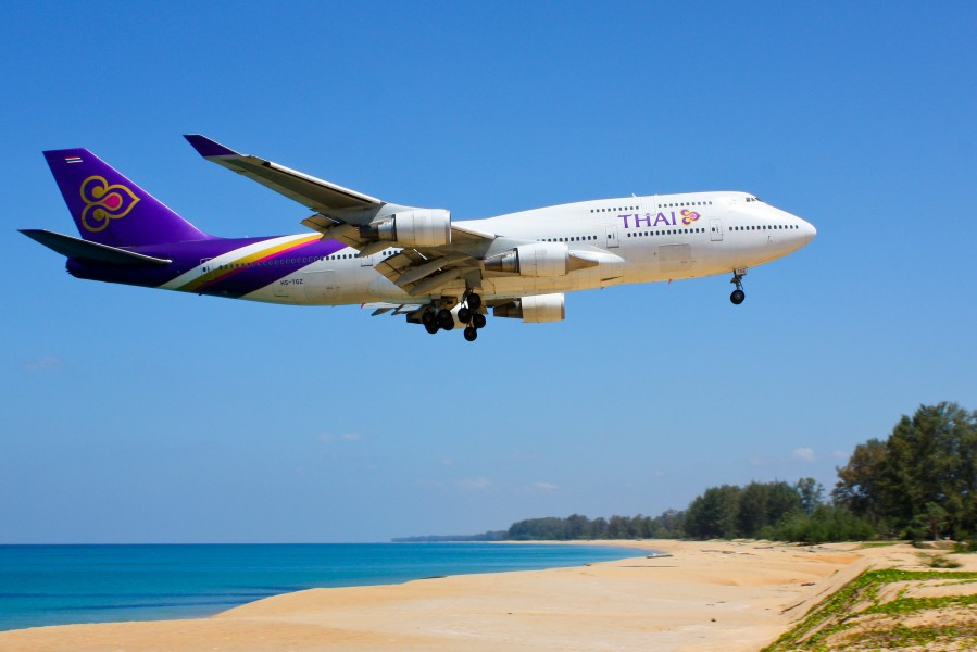 Thai Airways B747-400 HS-TGZ Phuket
