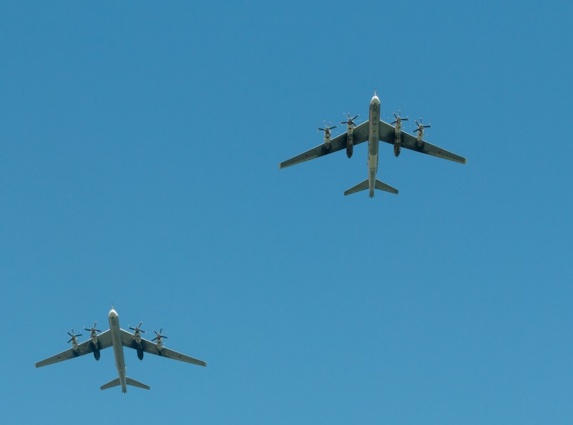 Tu-95 at an Air show in Voronezh 2014