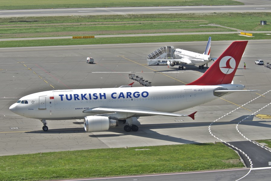 Turkish Airlines Cargo Airbus A310-300F; TC-JCZ@ZRH;11.08.2012 673ak (7761731376)