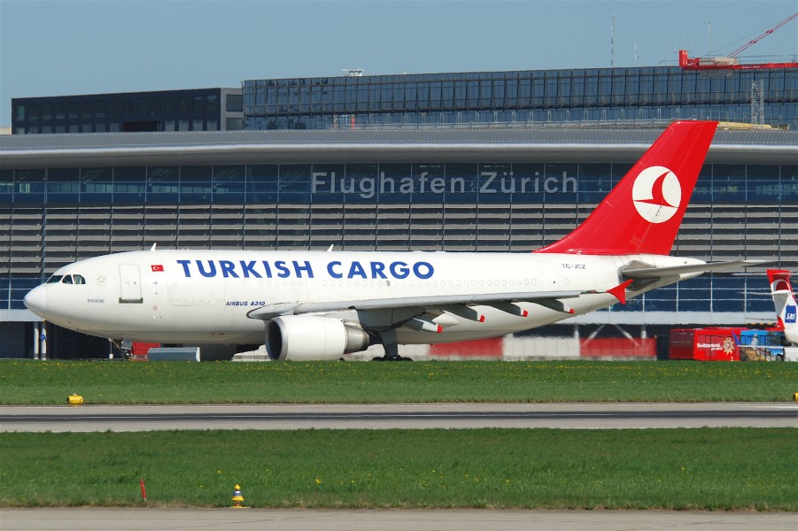 Turkish Airlines Cargo Airbus A310-304F; TC-JCZ@ZRH;09.04.2011 594ab (5604240930)