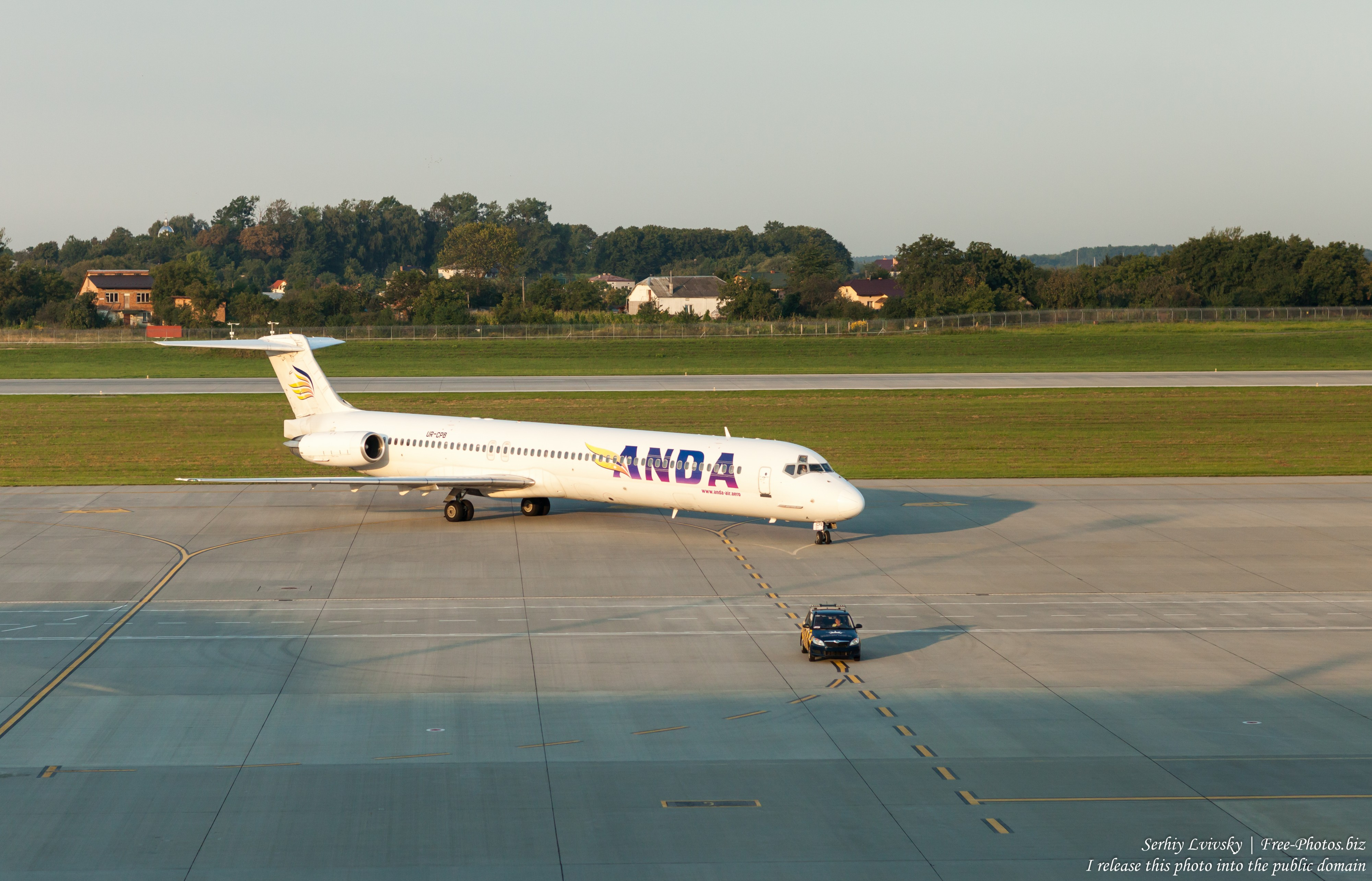 an Anda Air aircraft in Lviv airport, Ukraine, photographed by Serhiy Lvivsky in August 2018, picture 1