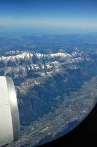 Axamer Lizum from the air, Tirol, Austria in 2011
