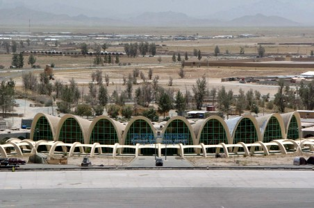 Aerial view of Kandahar Airport in 2005