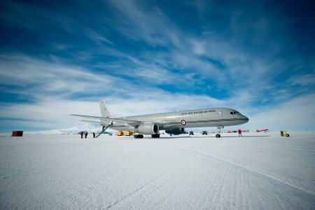 Air Force Boeing 757 in Antarctica