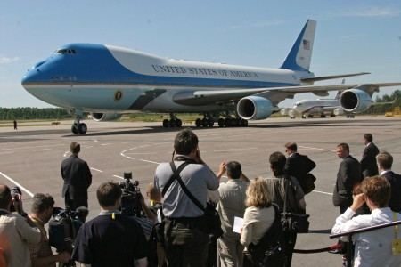 Air Force One in Saint Petersburg-1