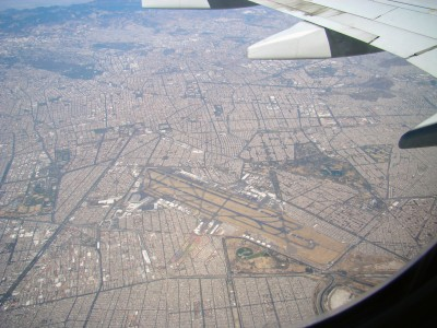 Arial View of Mexico City Airport on 3.21.11
