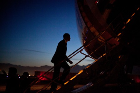 Barack Obama departs Bagram Airfield 2012