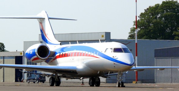Bombardier BD-700 at Antwerp Airport