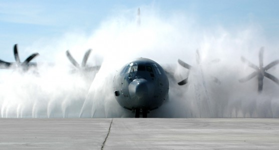 C-130J Hercules cleaning