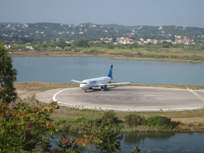 Condor A320 at Corfu Airport