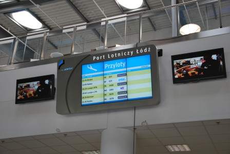 Display board, Łódź Airport