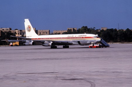 Egypt Air Boeing 707 in Malta