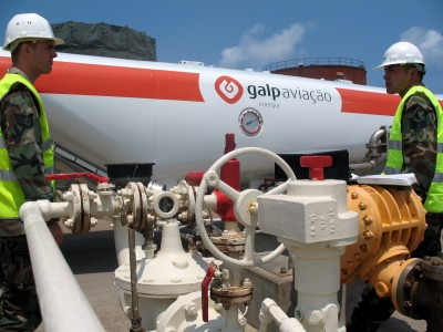 Fuel tank truck in Lajes