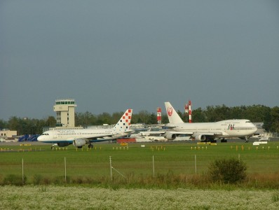 JAL -B747 at Zagreb airport