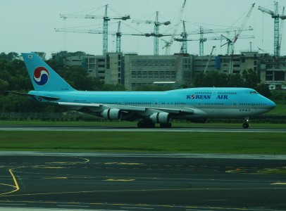 Korean Air Boeing 747-400, HL7484, SIN 2