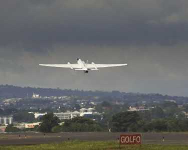 Lockheed ER-2 take off in Costa Rica