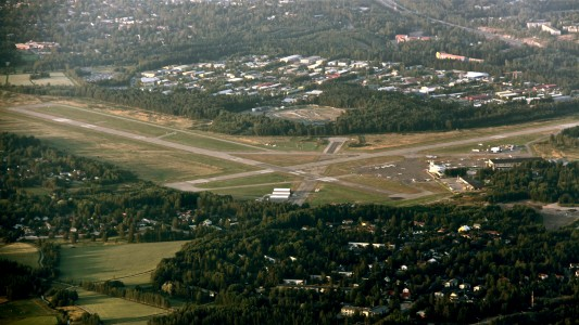 Malmi airport aerial photo