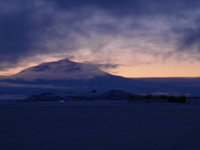 Mount Erebus seen from Pegasus Field